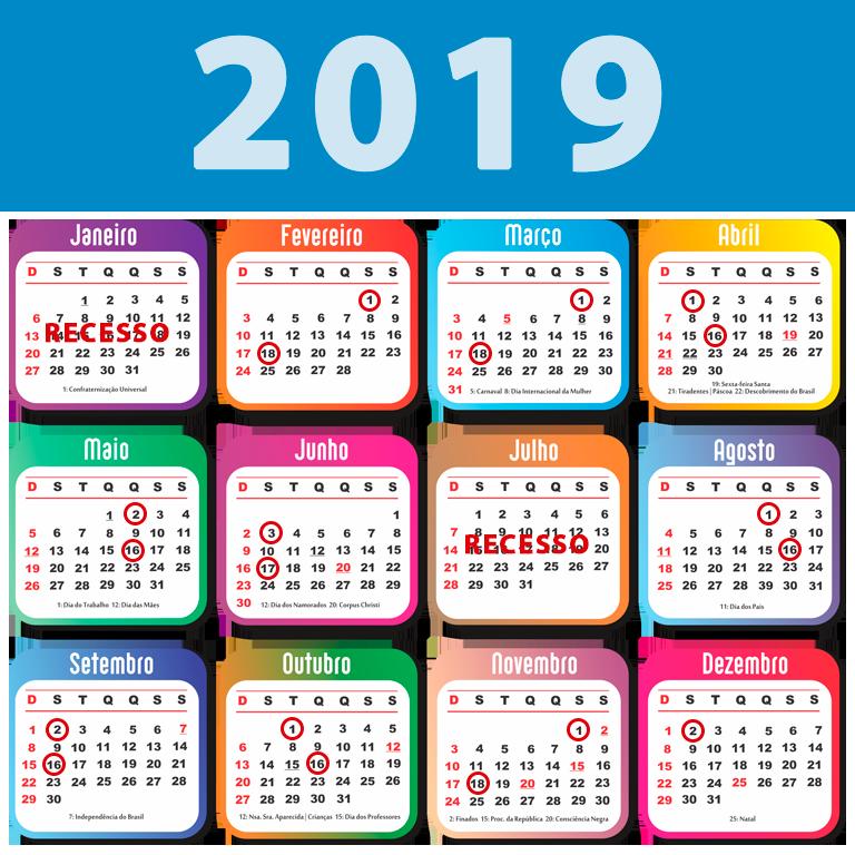 Calendario.Calendario E Lista De Presenca Camara Brodowski